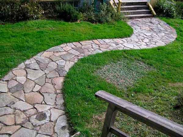 Jardineria, cesped artificial y piedra